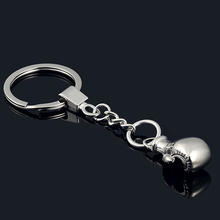 wholesale 10PCS New Boxing Glove key chain -New Design Cool metal Keychain Car Key Chain Key Ring Bag pendant key Holder(China)