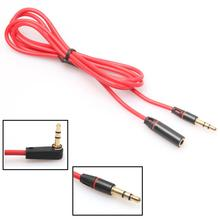 3.5mm Male to Female Stereo Audio Headphone Aux Extension Cable Headset Cord Red with 1.2m Length May31(China)