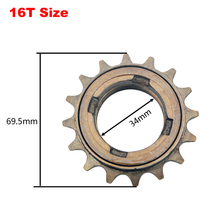16T Single Speed Bicycle Rotary Flywheel DIY Lock to Unlock Flywheel 16 Tooth Bike Modified Parts