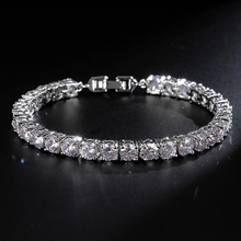 UILZ Fashion Rome Charm Jewelry High Quality Round Cut 0.5 carat AAA Cubic Zircon Tennis Bracelets For Women/Men Party JMBP051