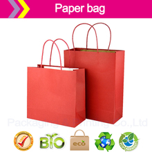 Red paper bags cheap customized logo paper bags shopping bag Recyclable Luxury Style Printed Gift Custom jewShopping Paper Bag(China)