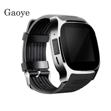 Gaoye T8 Bluetooth Smart Watch With Camera Music Player Facebook SMS Smartwatch Phone Call SIM TF Camera For Mobile phone(China)