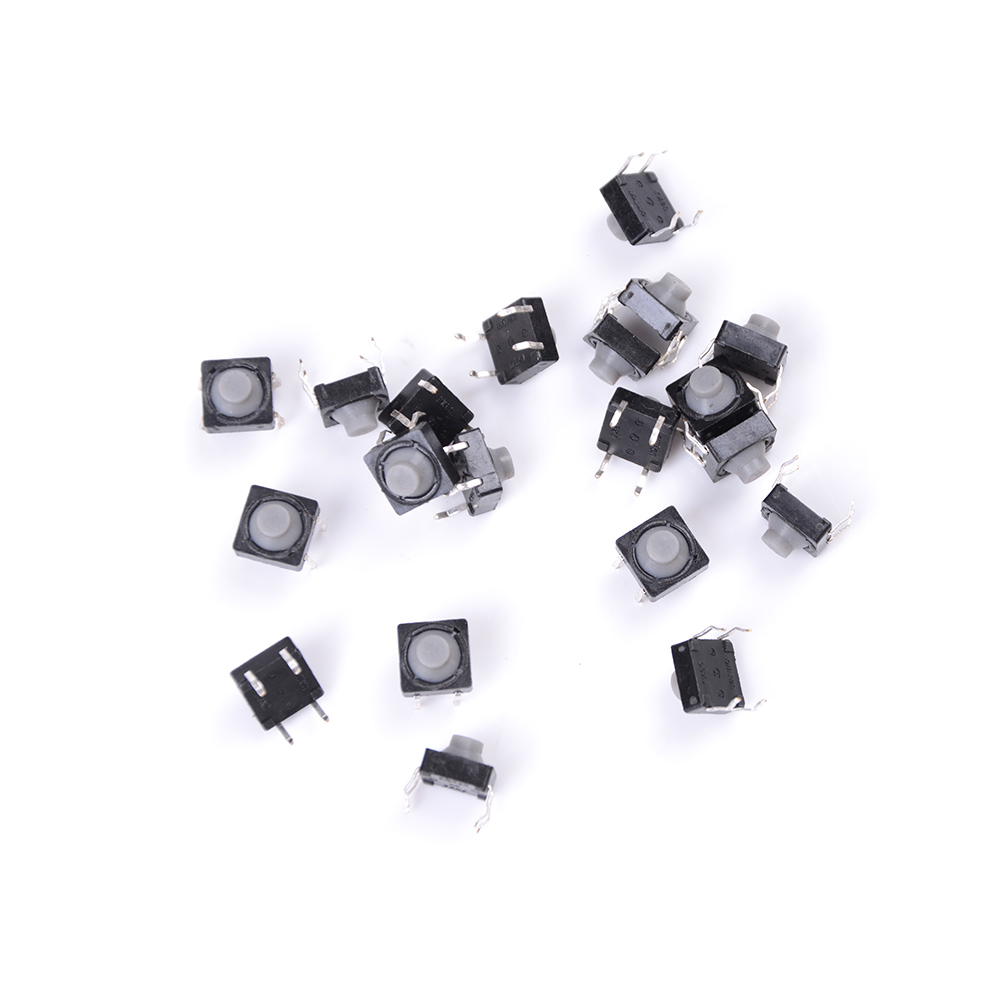 4PIN Conductive Silicone Soundless Tactile Tact Push Button Micro Switch Self-reset 20pcs/lot 8x8x5MM