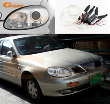 For Daewoo Leganza 1997 1998 1999 2000 2001 2002 Excellent Angel Eyes Ultra bright illumination CCFL angel eyes Halo Ring kit