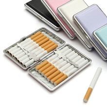 Cigarette Case Pocket-box 7 Solid Colors Leather Tobacco Cigarette Case Box Holder Container Smoking Pouch for 14 Cigarettes(China)