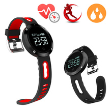 NEW DM58 Bluetooth 4.0 Heart Rate Blood Pressure Monitor Smart Bracelet Health Tracker IP68 Waterproof For iOS Android vsmiband2(China)