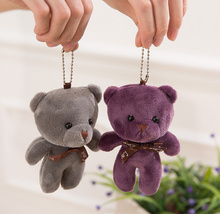 HOT SELL 4Colors- 10CM Joint Bears Wedding Love Bear Plush Stuffed Toy Doll - keychain pendant charm gifts Plush Toys
