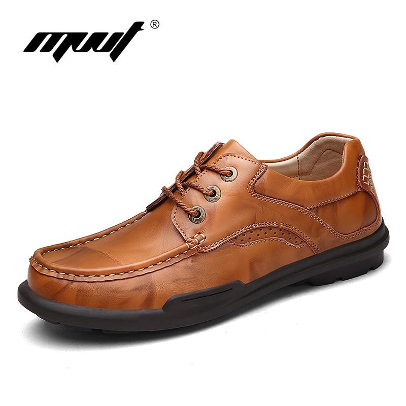 MVVT Spring Autumn brand men flats Genuine leather shoes men Solid business casual shoes hombre High quality men shoes<br>