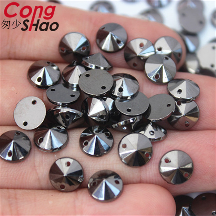 200pcs 8mm Clear Acrylic Crystal Round Faceted Flat Back Rhinestones Beads DIY
