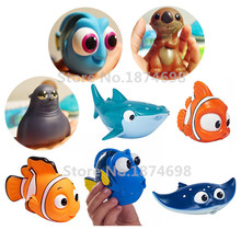 Finding Dory Baby Bath Toy Set of 8 Dory Nemo Little Dory Mr. Ray Fluke Destiny Sea Otter Bath Squirters Figure Cute Toys Gifts