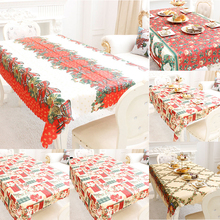 1pcs 150x180cm Christmas Tablecloth New Year Kitchen Dining Table Decorations Rectangular Party Table Covers Christmas Ornaments(China)