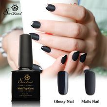 Saviland 1pcs Matt UV Gel Nail Polish Matte Top Coat Top it Off Soak Off Gel Polish 10ml Frosted Surface Oil