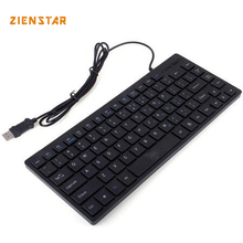 Slim wired USB KEYBOARD mini KEYBOARD English language  with 84 keys for LAPTOP and  DESKTOP  Free shipping