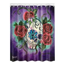 Polyester Shower Curtain Bathroom Decor Home Decorations Tattoo / Basketball/Skeleton Flower / Soccer(China)