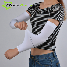ROCKBROS Breathable Arm Sleeves Cycing Hiking Climbing Driving CoolMax Sunshade Armwears UV Protection Sports Safety Men Women