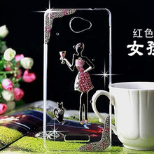 fashion girl cat Jewelled bling cover for Sony Xperia Z1 L39H Z2 Z3 Z4 Z5 MINI C3 C4 C5 M2 M4 M5 T3 E3 E4 E5 XA XA1 Phone case