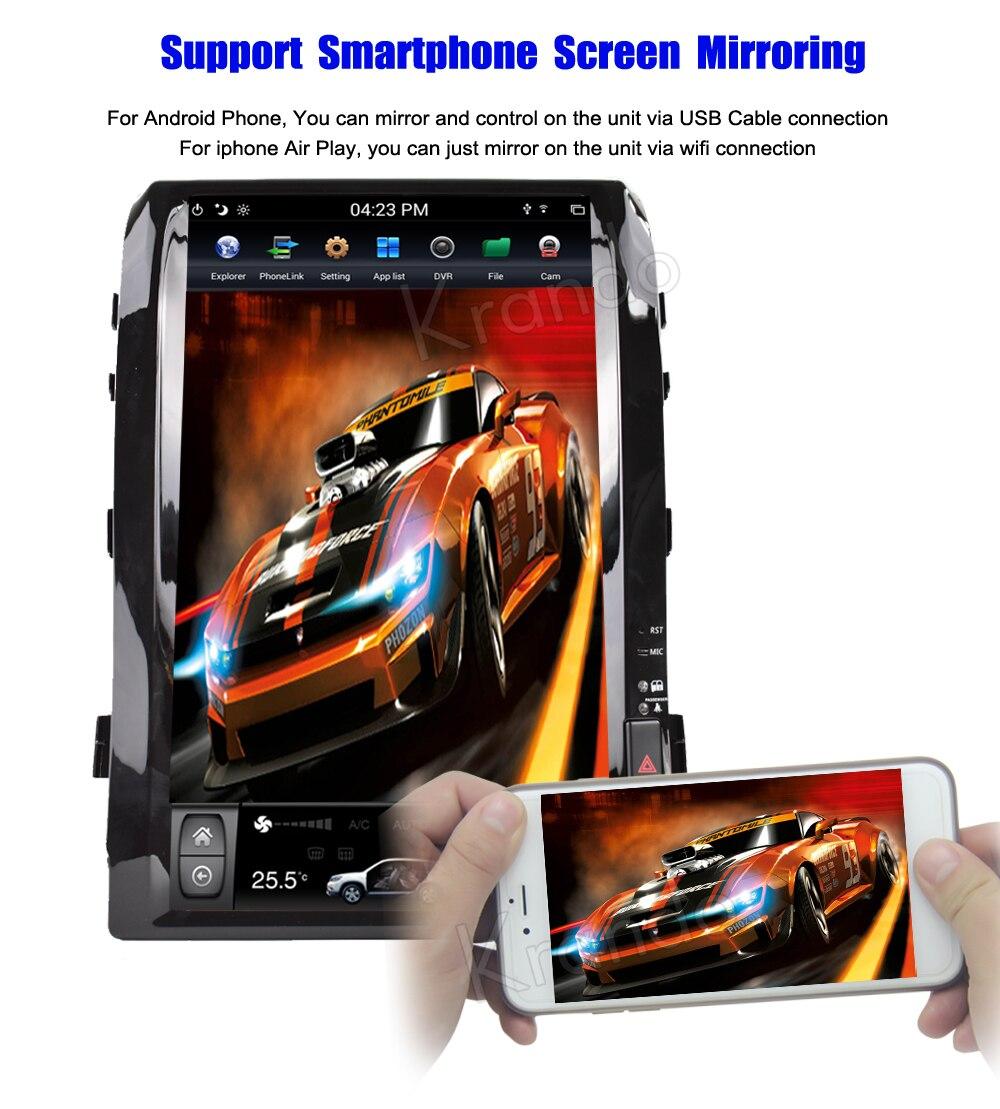 Krando android car radio stereo navigation gps for toyota land cruiser 200 2008-2015 car dvd player multimedia system (7)