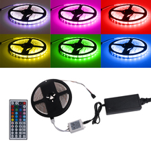 HNGCHOIGE 5m SMD RGB 5050 Waterproof IP65 300 LED Strip Light 44 Key Remote 60W Power Kit(China)
