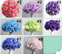 light purple Silk Rose Flower Ball 10pcs 15cm Diameter Kissing Ball Designs for Wedding Party Shop Artificial Decorative Flowers