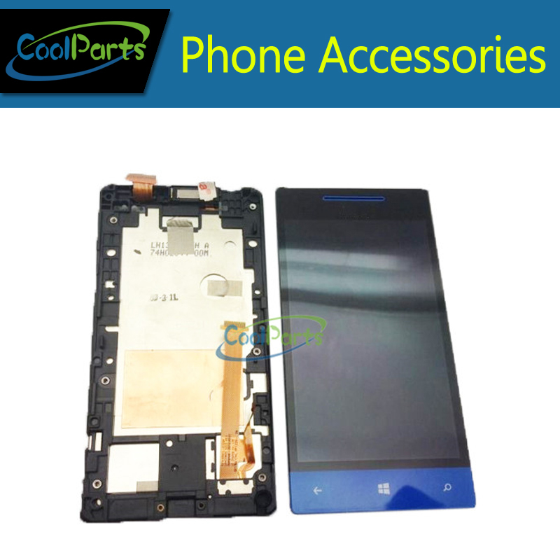 1PC/Lot Blue /White Color LCD Display and Touch Screen With Frame Assembly For HTC 8S Windows Phone 8S A620E Free Shipping<br><br>Aliexpress