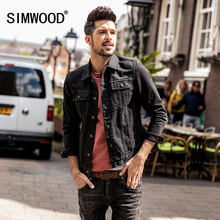 SIMWOOD 2018 Spring Denim Jackets Men Fashion Pocket Men's Jean Jacket Slim Fit Casual Outerwear Plus Size Coats NK017004(China)