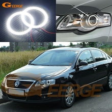 For Volkswagen VW Passat B6 Magotan Halogen Headlight 2006-2010 Excellent Ultra bright illumination smd led angel eyes kit