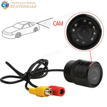 2.8mm HD Night Vision Waterproof Car Rear view Camera Mini Auto Backup Reverse Rearview Camera 420TVL 1/4 CMOS with 9 IR Lights