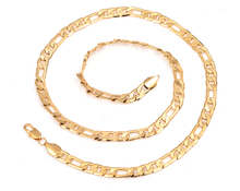 60cm Long Gold Color Men's  Link Chain Necklace Fashion Men Jewelry Christmas Gift Items
