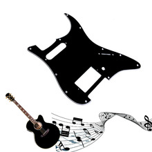 Great 3Ply Guitar Pickguard Scratch Plate For Fender Strat Parts Pearl Black Guitar Parts