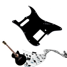 Great 3Ply Guitar Pickguard Scratch Plate For Fender Strat Parts Pearl Black Guitar Parts(China)