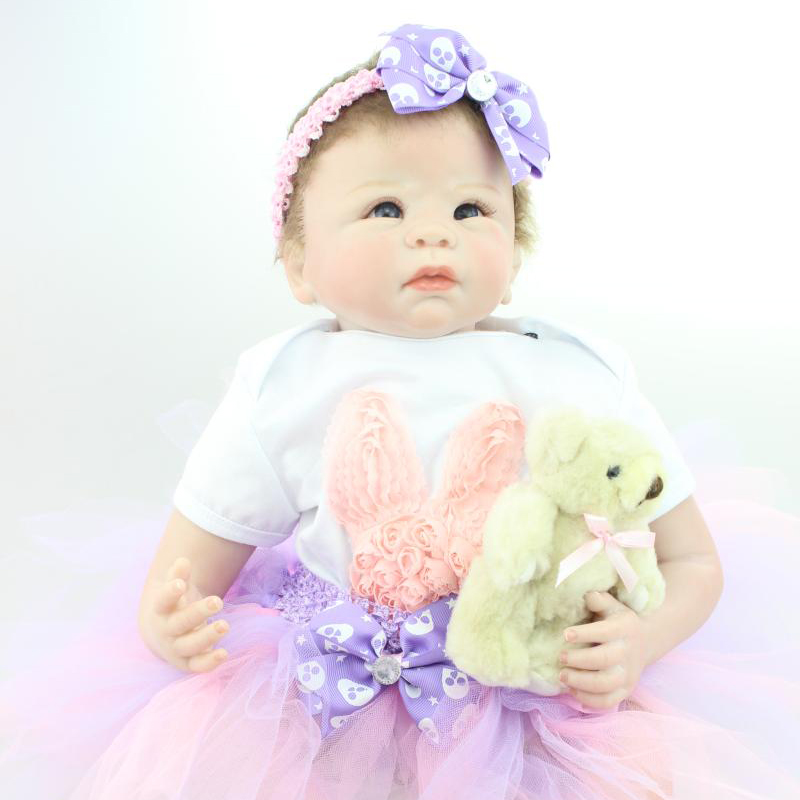 UCanaan New 50-55cm Silicone Reborn Baby Dolls Puzzle Toys Reborn Baby Doll Soft Touch Body  Baby Reborn Dolls Alive Reborn doll<br><br>Aliexpress