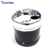 Rotary Metal Car Ashtray with Cover Popular Sealing Automatic Ashtray Extinguish Cigarette Holder Butts Home Individual Lighters(China)