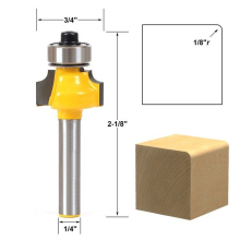 "1pc Round Over Edging Router Bit 1/4"" Shank 1/8"" Radius Carbide Woodworking Cutter Tool"