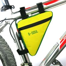 Outdoor Cycling Front Bag Bike Cellphone Accessories Triangle Waterproof Cycling Bike Bicycle Front Tube Frame Pouch Bag Saddle