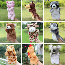 Cartoon Animal Plush Doll Toys Pig Cat Owl Monkey Dog Rabbit Dolphin Hand Puppet Plush Puppets Baby Toys