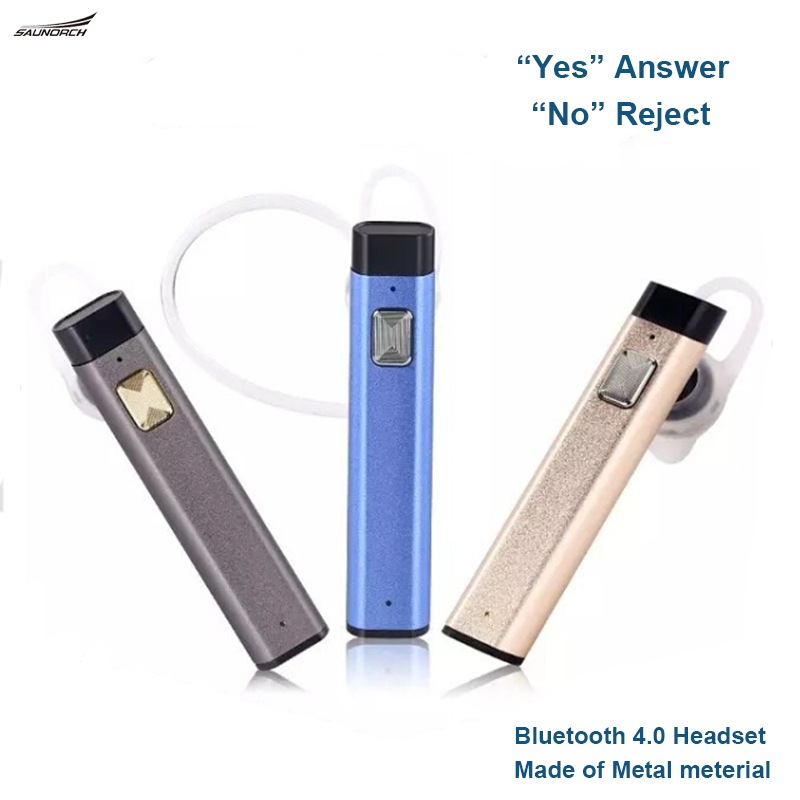Metal Bluetooth Headset 4.0 Earphone Voice Control  Headphone V900 Sound Stereo Wireless Handsfree Earphone For iPhone Samsung<br><br>Aliexpress