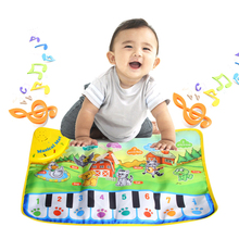 Hot Baby Zoo Animal Pattern Musical Touch Singing Play Cute Kids Baby Touch Play Keyboard Musical Toys Music Carpet Mat Toy(China)