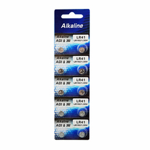 10x AG3 1.55V Button Cell Li-ion Watch Batteries LR41 192 L736 392 SR736 V36A Batteries Colorful lamp chain Finger Light(China)
