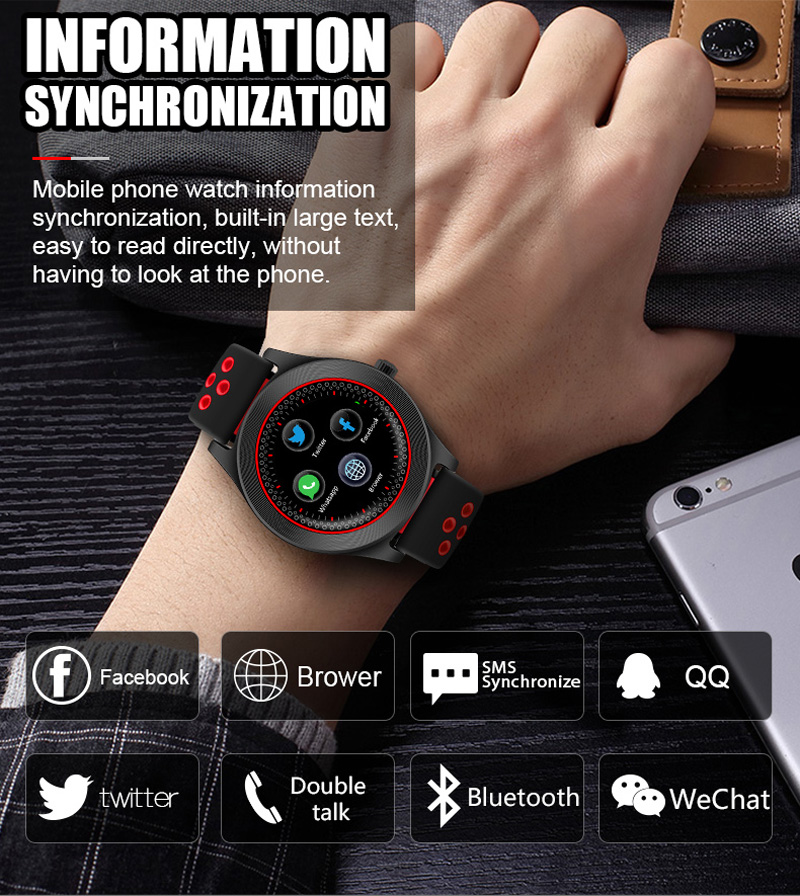 Volemer Smart Watch TF8 Sports Fitness Watch Support Memory Card SIM Card Phone Smartwatch Bluetooth Android Smart Wristwatch (14)