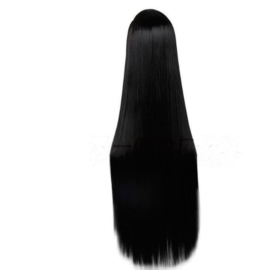 2017 Unisex Long Black Cosplay Wig Synthetic Straight Women Wigs Synthetic Hair Factory Direct Sales Free Shipping WM0615691<br><br>Aliexpress