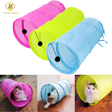TINGHAO Pet Cat Dog Small Foldable Tunnel Toy Dangling Bell Decron Cloth Sleeping Bag(China)