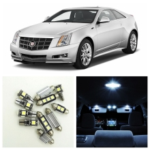 14pcs White Canbus Car LED Light Bulbs Interior Package Kit For 2008-2013 Cadillac CTS Map Dome Trunk Door License Plate Lamp(China)