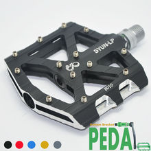 best sell! CNC alloy sealed bearing cromo axle anode finish Downhill BMX big area platform bicycle pedal