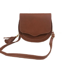 2017 Women Casual Mini Messenger Bags Cute Simple Ladies Clutches PU Leather Female Gilrs Small Tassel Crossbody Shoulder Bag