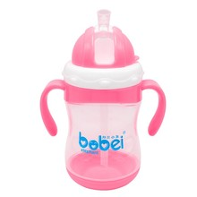 300ML Baby Feeding Bottles Kids Cup Drinking Feeding Bottle Sippy Cups With Handle Baby Feeding Bottle PP Plastic(China)