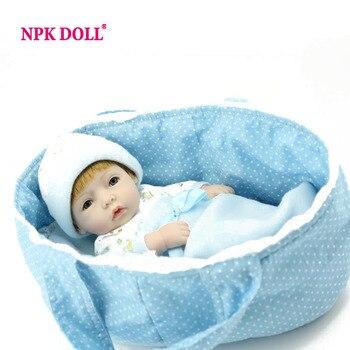 """Npkdoll 11 """"llena de vinilo de mini muñecas del bebé recién nacido niño reborn baby dolls realista hecha a mano del regalo del bebé"""