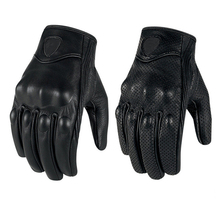 Motorcycles glove Waterproof Ventilation Genuine leather Scrub glove winter Sport tactical gloves Black Color