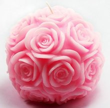 Ball of Rose Candle DIY Mold Silicone Handmade Soap Mold DIY Candle Making Mold Handmade Art Craft Ornaments Decoration 3D Mould