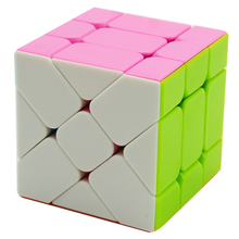 Fangge Fisher Cube 3X3X3 Magic Cube Irregular Cube Puzzle Toys for Beginner - Colorful(China)