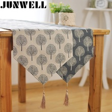 2017 New Heavy Cotton Table Flag China Style Tassel Table runner Coffee Table Dinning Table Runner House decoration(China)